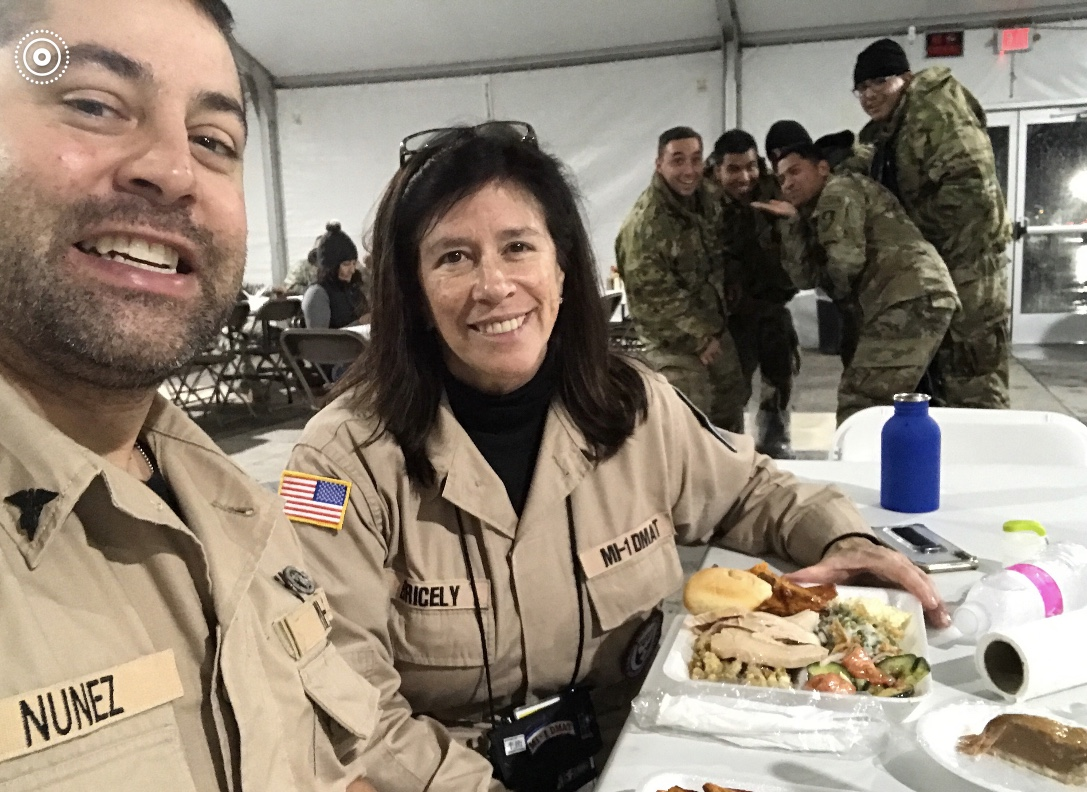 Deborah Bricely Deployed as part of the National Disaster Medical Assistance Team